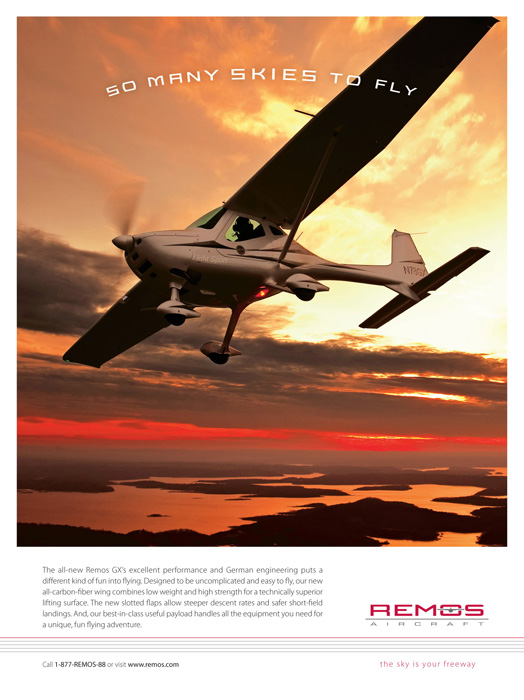 Remos Ad for New Lightsport Airplane