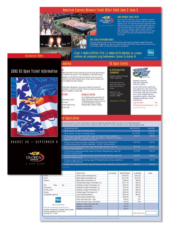 US Open Tennis Championships Brochure