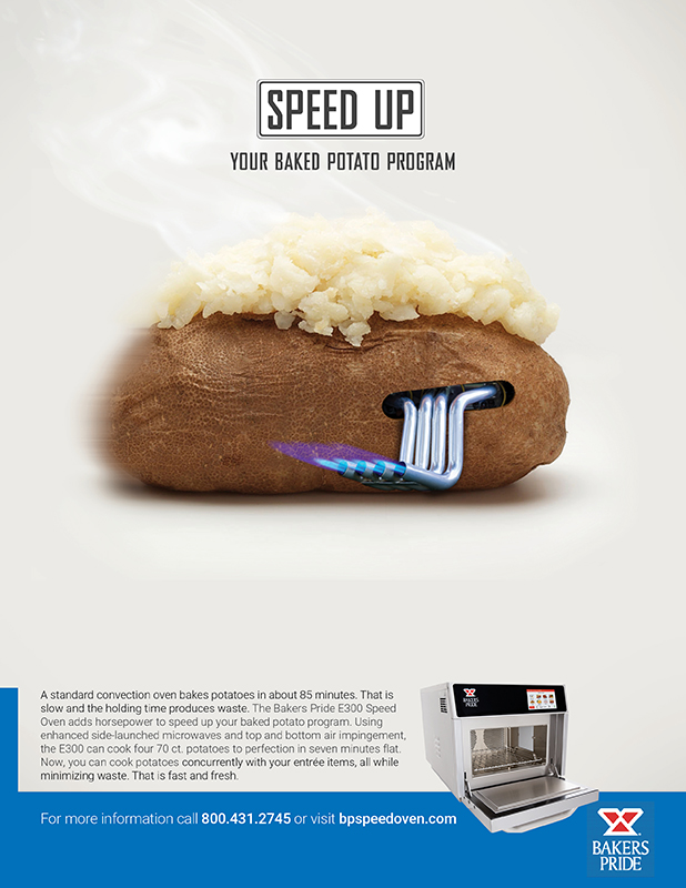 Speed Oven Potato Ad