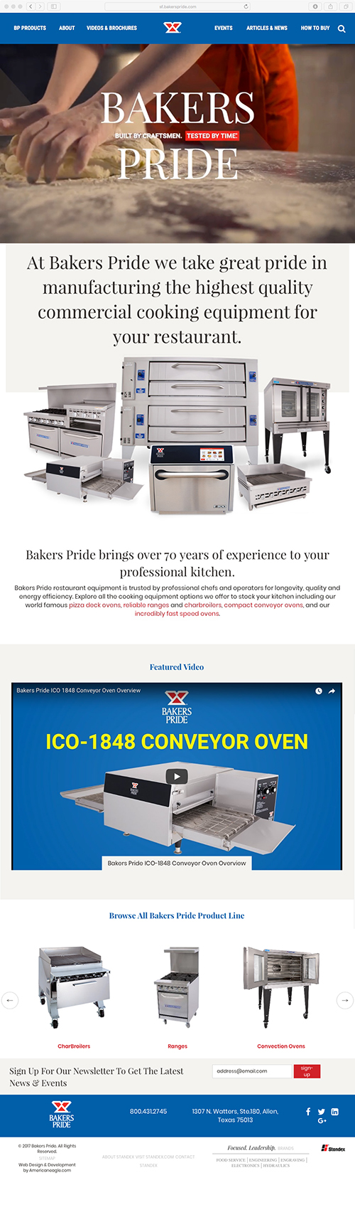 Bakers Pride Website