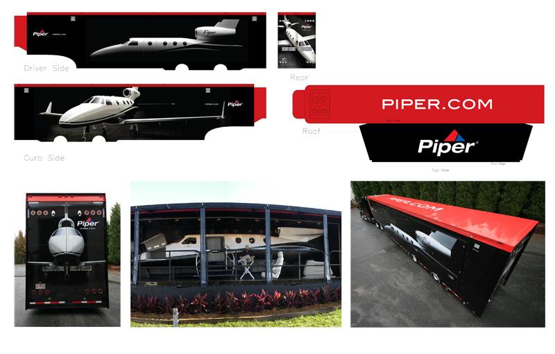 PiperJet Trailer Wrap